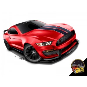 FORD MUSTANG SHELBY GT350R Hot Wheels Машинка базовой комплектации