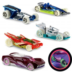 Машинки Hot Wheels DTV55 коллекции Glow Wheels