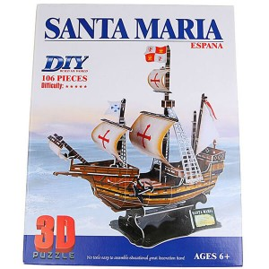"3D пазл ""Парусник Санта Мария"" 2803E"