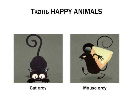 цвет: кот и мышь
