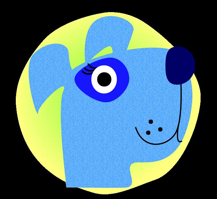 голубая собачка