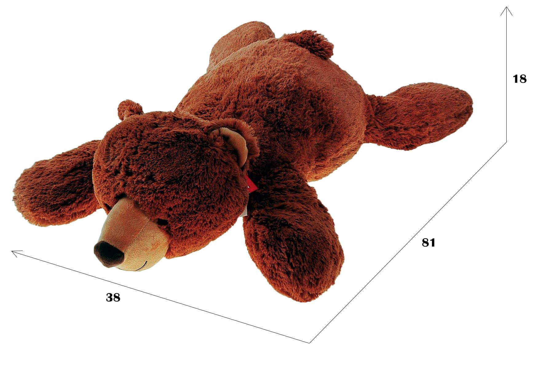 размеры лежачего медведя от Fancy 81 см