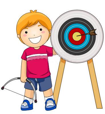 картинка мальчика с луком и мишенью