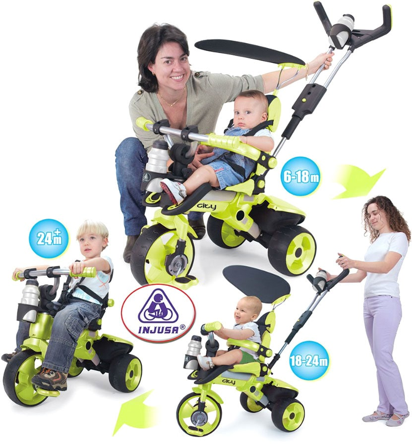 Купить детский велосипед Injusa City Trike Green 3263 купить в Минске
