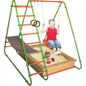 Уличный детский спортивный комплекс Пирамидка + песочница