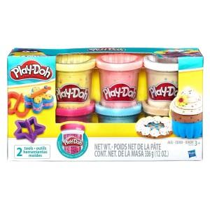 Play-Doh Пластилин для детской лепки: 6 баночек с конфетти B3423