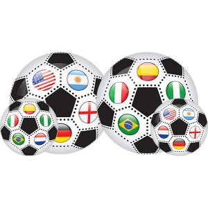 Мяч детский с рисунком большой 230 мм