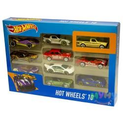 Подарочный набор из десяти машинок Hot Wheels 54886