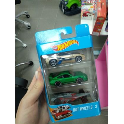 Подарочный набор из трёх машинок Hot Wheels K5904