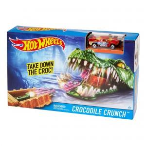 Игровой набор Hot Wheels Крокодил DWK96/DWK94