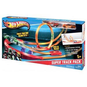 Трек Hot Wheels Супер-трек с 2 машинками Y0276